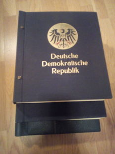 DDR Germany 1950/1990 - Advanced stamp collection mounted in 3 albums with some miniature sheets and envelopes.