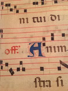 Parchment antiphonary - 16th century