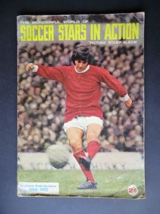 Variant of Panini - FKS - Soccerstars in action - 1969/1970 - England First Edition - Complete album - Including 2 order forms.