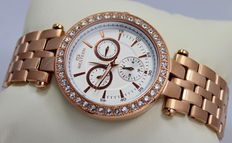 Western – Ladies Rose Gold Plated Multi Dial Designer Watch – New & Mint Condition