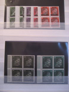 Austria 1945/1971 - Collection in blocks of four and sheet parts in stock book