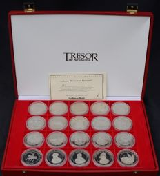 France – Trésor du Patrimoine – The French Revolution (case with 20 medals)