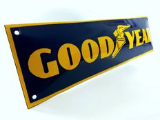 Goodyear enamel sign - 1980s
