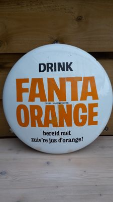 Fanta enamel advertising sign - 2nd half of the 20th century.