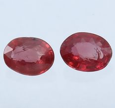 Pair Rubies - 0.39 ct - No Reserve