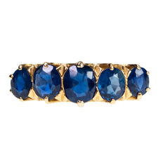 Sapphire, Gold Ring 18k Gold