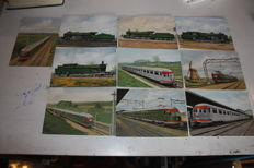 The Netherlands Nederlandse Spoorwegen, 66 stock photo cards of the NS in particular steam locomotives