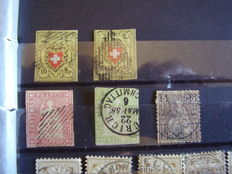 Switzerland - 1850/1990 and after Collection of stamps and correspondence.