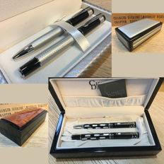 Lot of two particularly beautiful Charles Dickens pen sets.