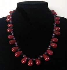 Ruby and Amethyst Necklace - 400 ct.