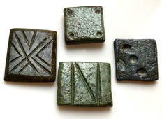 Ancient Roman / Byzantine Nomisma Bronze Solidus Coin Weights / 10mm - 15mm