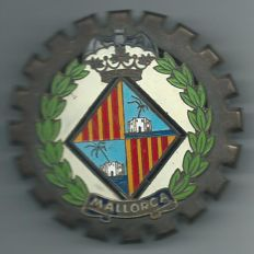Mallorca Car Badge +/-1950 diameter 8 ½ Centimeters