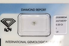 0.20 ct Brilliant-cut diamond -  I/Internally Flawless