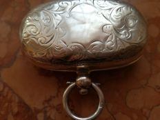 Mappin & Webb, sterling silver half full Sovereign case - Birmingham - about 1900-1902
