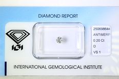 0.20 ct Brilliant-cut diamond - D/VS1