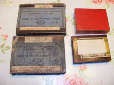 large lot antique glass negatives 4 full boxes around 1920