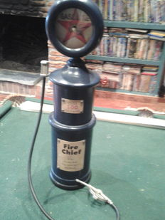 Texaco Fire Chief Gasoline Gas Clock & MoneyBox