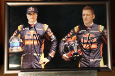 Original signed photo Jos Verstappen and Carlos Sainz