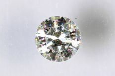0.10 ct Brilliant-cut diamond -  F/VVS2 NO RESERVE PRICE