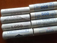 Republic of Italy - lot of 8 rolls - 1988/1998 (400 coins)