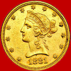 United States of America – 10 dollars – 1881 – Gold.