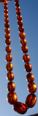 Necklace in Amber with Inclusions - 30 g.