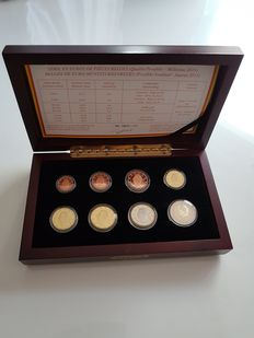 Belgium - Case (8 coins) in good condition 2013