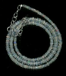 Opal necklace - 925 silver clasp.