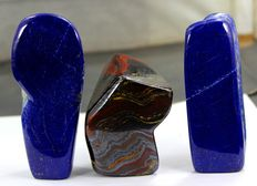 Top Quality Tiger's Eye and Lapis Lazuli tumbles - 80 to 119mm - 1193gm  (3)