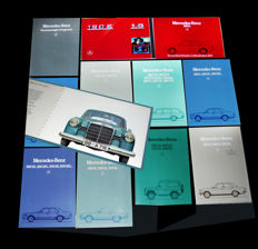 10 different Mercedes-Benz  car sales brochures of the 1983 range PLUS one, fine old 180b from 1960  - all original and as new