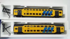 Lima H0 - 309124K/309187K - Two double decker-carriages DDM-1 of the NS