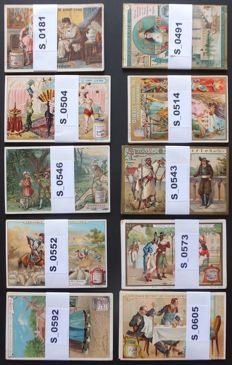 Chromo's Liebig - 10 complete French series - period: 1886-1899