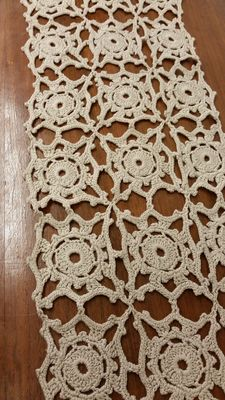 Crocheted hemp doily from an Italian private collection, around 1920