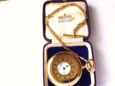 Half hunter Swiss high grade pocket watch – circa 1890's