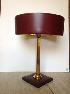 ILG – desk lamp – type: Leather Line 700 – burgundy colour