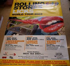 The Rolling Stones: Four Official Posters: Rare Huge Forty Licks 2003 Tour Poster:With Mick Jagger: Original 5 Rolling Stones: The 3 Front Men: Second Original Five Stones