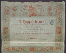 France - L'Hippiodrome 100 Francs Paris 1898