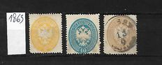 Austria, Lombardy and Venice/Levant 1863/1903 - A small selection on Stock Card