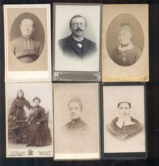 Portrait photographs from Belgium - 30 x - 1880/1910