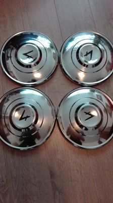 4 Ford wheel caps made of polished stainless steel 14 inch
