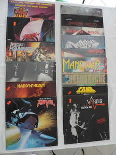 One lot of 15 original first release Hard Rock/Heavy Metal albums from the early 80's in mint condition