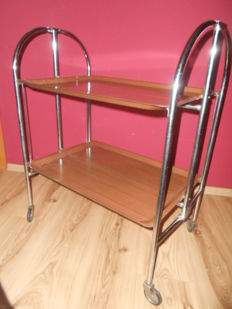 Unknown designer - vintage foldable serving trolley