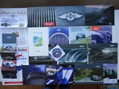 1984 - 2011 - MORGAN Aero 8, Plus 8, Plus 4, 4/4, Aeromax, LIFE car concept, Roadster, etc - mixed lot of 17 original sales brochures + one Aero 8 CDrom