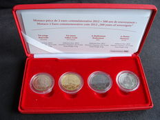 Monaco – 2 Euro 2012 'Lucien' (4 different) in coffer