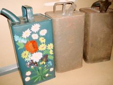 ESSO - Three oil cans in tin - 1952/56/57