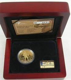 The Netherlands - double ducat 2007, gold in coffer with certificate KNM.
