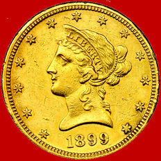 United States of America – 10 dollars – 1899-O (New Orleans) – Gold. Rare.