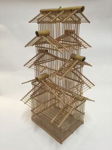 Beautiful bamboo cage - 5 roofs