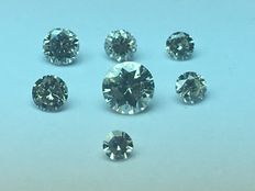 Lot of 7 brilliant-cut diamonds totalling 0.43 ct - no reserve price