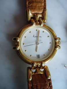 Kutchinsky 18 Kt Solid Gold Ladies Date  Watch - Circa 1996